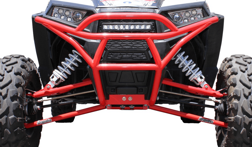 Dragonfire RED Front Gusset Kit for Polaris RZR