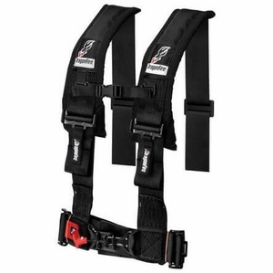 Dragonfire H-Style 3 Inch 4 Point Harness - Black