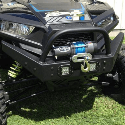 EMP Front Bumper W Winch Mount And LED Lights Polaris RZR XP 1000 XP Turbo S 1000 900 S 900