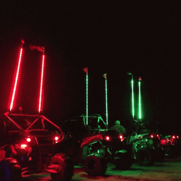 Four Foot Led Whips By Drive Unlimited Side By Side Stuff