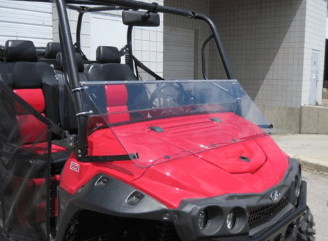 Full Folding Lexan Windshield by DaBomb Windshields - Mahindra mPact XTV