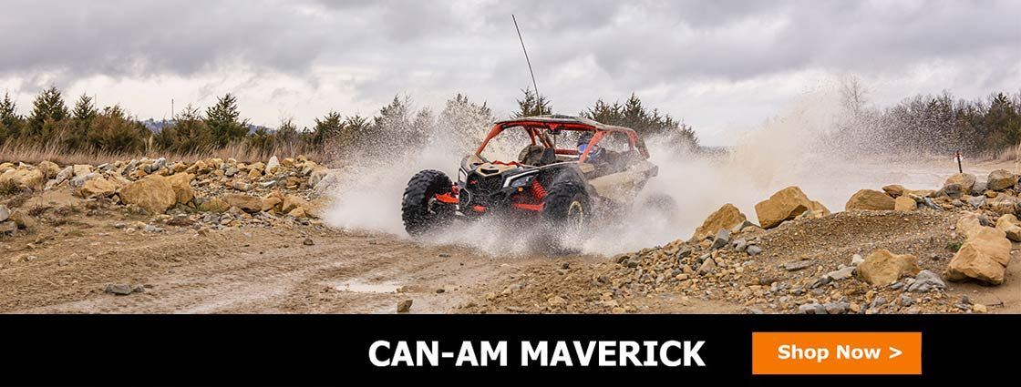 Side By Side Stuff carries a huge selection of UTV parts and accessories for your Can-Am Maverick, including windshields, mirrors, doors, lights, and more.