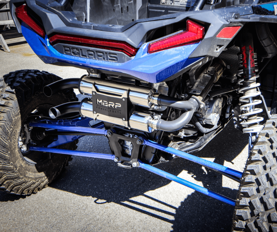 MBRP Performance Series Slip On Dual Stack Exhaust - Polaris RZR XP Turbo S