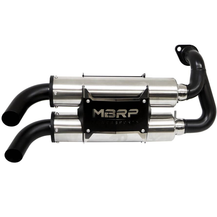 MBRP Performance Series Slip On Dual Stack Exhaust - Polaris General 1000