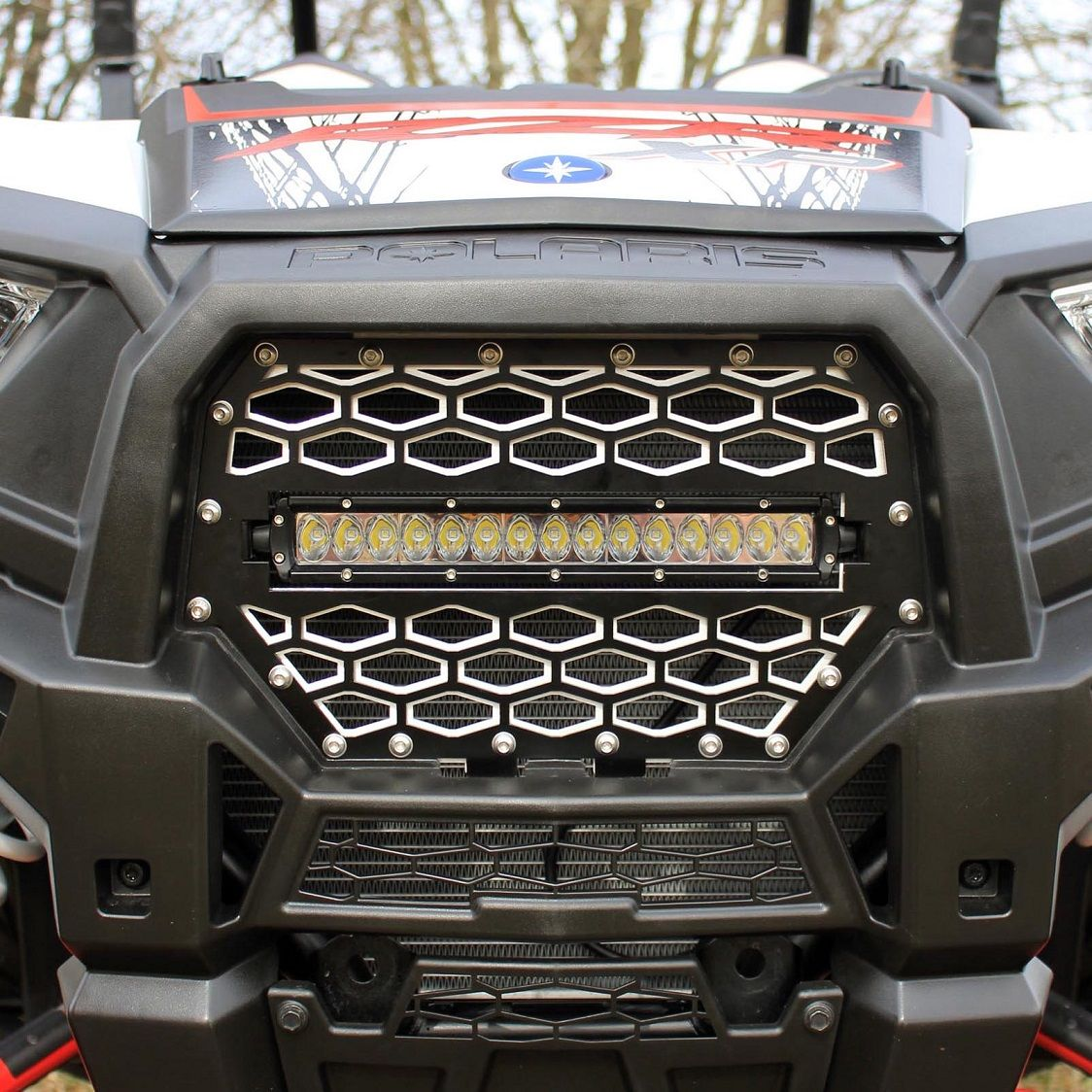 Modquad Racing Front Grill W 10 Inch Led Light Bar 2014 19 Polaris Rzr Xp 1000 Xp Turbo S 1000 900 S 900