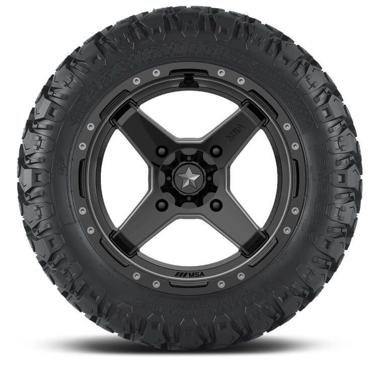MSA M39 Cross Satin Black and Titanium w| EFX Hammer Tires - Polaris Ranger  150
