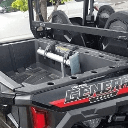 Polaris Ranger and Polaris General Jack 2,000 lb capacity galvanized steel lift height from 6 to 32