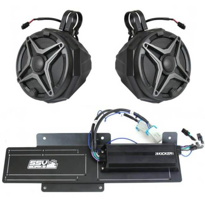 SSV Works 2 Speaker Plug-and-Play Cage Mount System - 2019 Polaris RZR XP  Turbo S