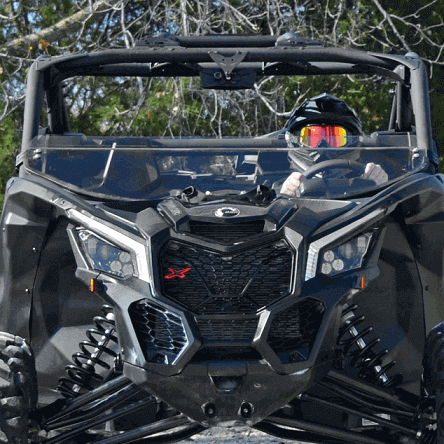 Half Windshield Can-Am Maverick X3 w// Intrusion Bars NOT Included