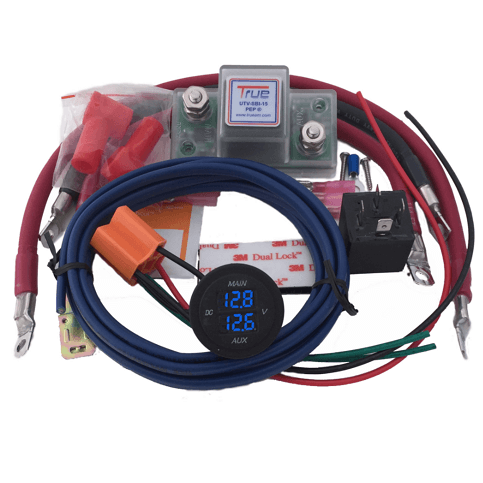 true am dual battery connection and monitor kit Dual Battery Wiring Diagram 4x4