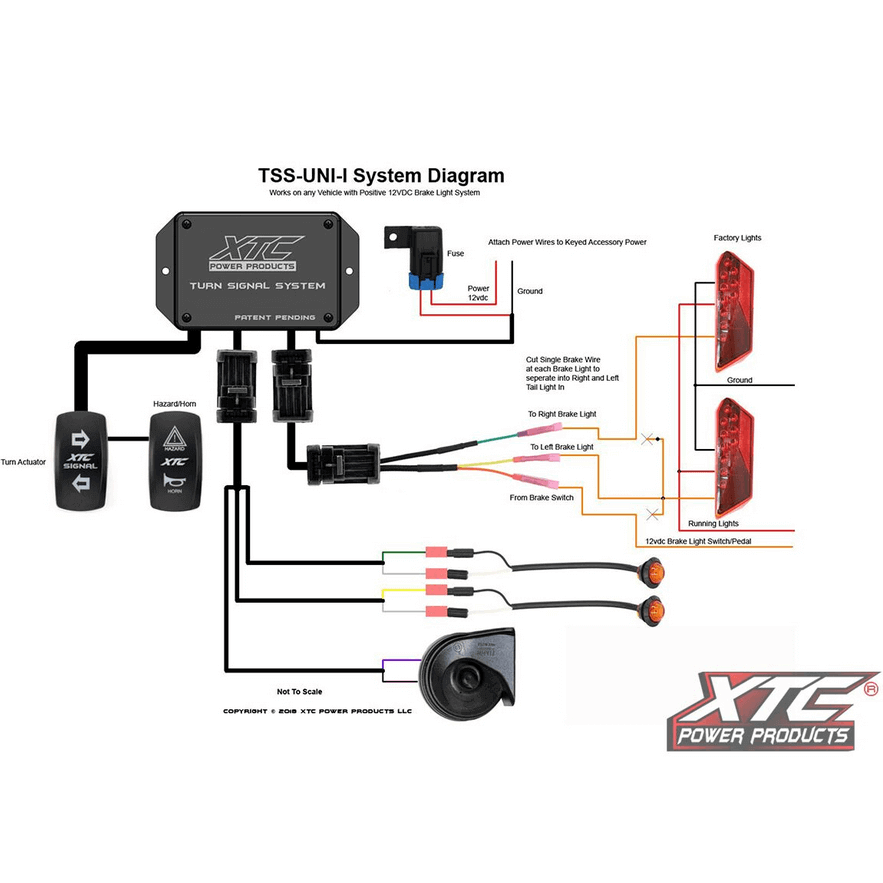universal signal switch wiring diagram xtc universal turn signal kit with horn side by side stuff  xtc universal turn signal kit with horn