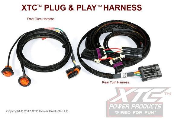 Plug /& Play Uses Factory Tail Lights XTC Motorsports TSS-HON1000 XTC Power Products Honda Pioneer 1000 Street Legal Turn Signal System with Horn