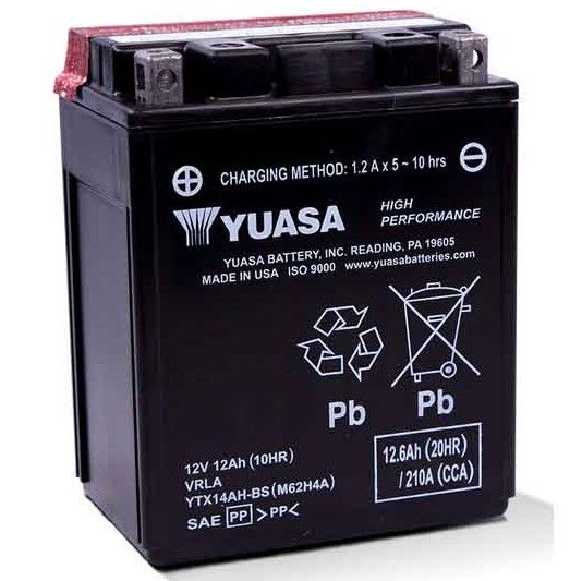 Yuasa Fresh Pack Maintenance Free Battery 2005 16 Kawasaki Mule 600 610