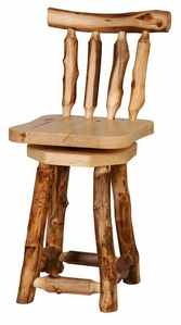 24-30 Inch Swivel Barstool with Back