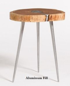 Alder and Tweed Vail Molten End Table