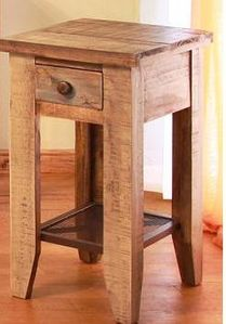 Antique Multicolor Chair Side Table