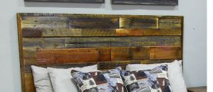 Avalanche Lake Reclaimed Barnwood Headboard