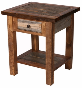 Barnwood 1-Drawer Nightstand