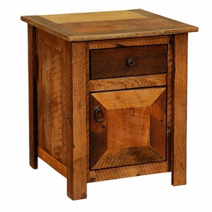 Barnwood Enclosed Nightstand