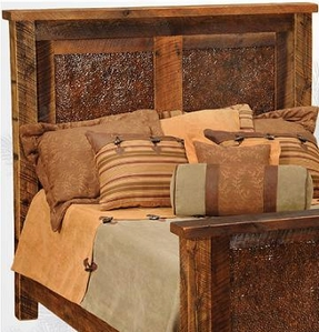 Barnwood Faux Copper Headboard