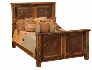 Barnwood Faux Copper Inset Bed