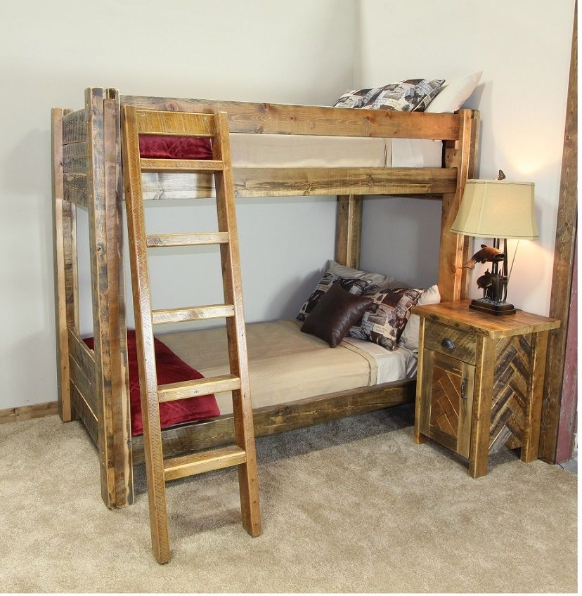 Belly River Reclaimed Barnwood Bunk Bed
