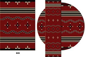 Big Chief Rug - Red
