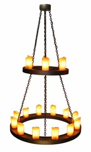 Candle Chandelier - Two Tier