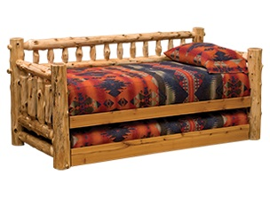 Cedar Traditional Log Daybed
