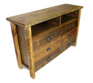 Coonsa Creek Barnwood Six-Drawer Media Chest