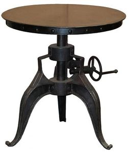"Eisen Crank Table - 22"" Black Iron"
