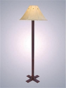 LaPaz Floor Lamp with Rawhide Shade