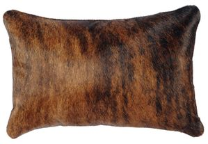Rectangular Brindle Hair-on-Hide Leather Pillow WD1952