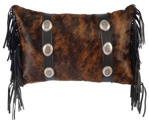 Leather Pillow with Conchoed Belts WD706