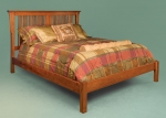 Mission Bed with Rail Footboard