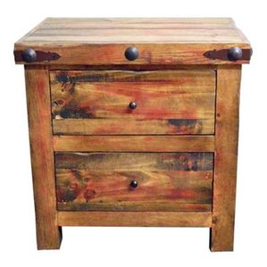 Montana Ranch Red Rubbed Nightstand