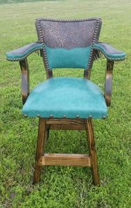 Montana Ranch West Barstool-Turquoise