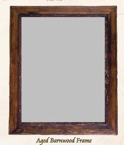 Old Hickory Aged Barnwood/Pioneer Barnwood Frame/Mirror