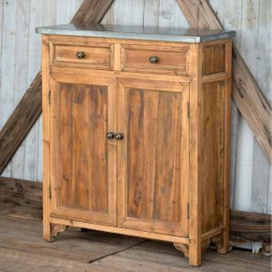 Park Hill Zinc-Top Farmhouse Cabinet