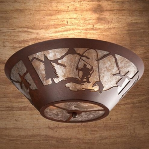 Round Drop Ceiling Mount - Fly Fisherman