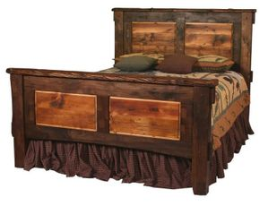 Wood Bed Frame Queen Rustic Beds Bunk Beds Lodgecraft