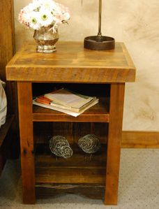 Sunset Meadow Nightstand with Shelves