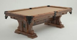 Pleasing Timber Frame Trestle Pool Table Beutiful Home Inspiration Xortanetmahrainfo