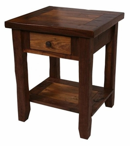 Walnut Lodge 1 Drawer Nightstand