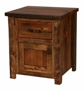 Weathered Pine 1-Drawer 1-Door Nightstand