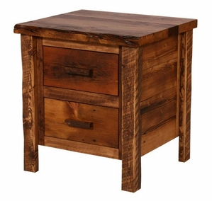 Weathered Pine 2-Drawer Nightstand