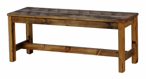 "Weathered Pine 56"" Bench"