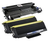 (2) Compatible Brother TN-760 Toner Cartridge - with Chip + (1) Compatible Brother DR-730 Drum Cartridge