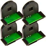 4 Color Toner Reset Chips for Xerox Phaser 6280 6280DN 6280N Series