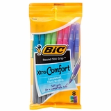 BIC PEN ROUND STIC GRIP ULTRA ASSORTED 8 PACK